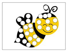 do a dot bee « Preschool and Homeschool Fall Preschool Activities, Ramadan Activities, Toddler Learning Activities, Infant Activities, Bee Crafts For Kids, Easy Arts And Crafts, Insect Crafts, Lacing Cards, Do A Dot