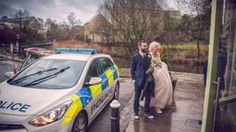 Stranded bride and groom given police escort after Burnley crash
