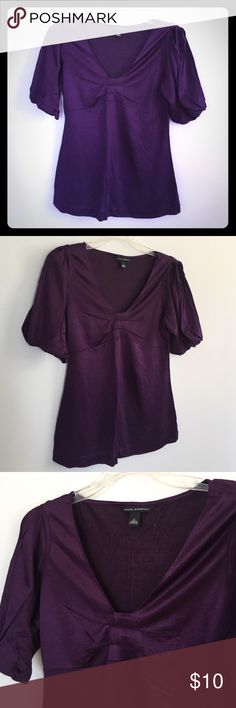 Purple Banana Republic Blouse S Excellent condition. Worn once. Has a nice sheen. Purple slinky. Beautiful ! Banana Republic Tops Blouses
