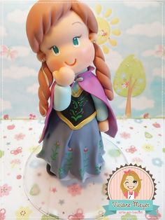 Ana Frozen topper cake party. http://www.vivianemeyer.com.br/