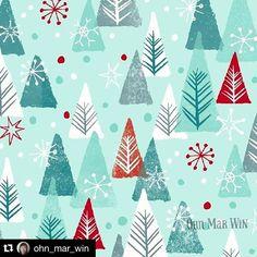 Tis the season!  #Repost @ohn_mar_win with @repostapp. ・・・ Winter forest for today's Christmas offering #christmasart #artlicensing #patternplay #printandpattern #surfacepattern #surfacepatterndesign #abmpatternlove #dspattern #ohnmarwin #brendamanleydesigns #calledtobecreative #creativityfound #makersgonnamake #printsource #surtex #flashesofdelight #thatsdarling #liveauthentic #myfavoritedesigns