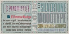Silvertone Woodtype font download