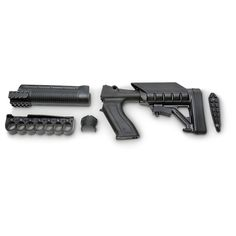 The TacStar Tactical Shotgun Conversion features all the accessories you need to convert your shotgun from hunting to tactical in one easy kit. Available for 12 gauge only and fits Mossberg 500 and 590.