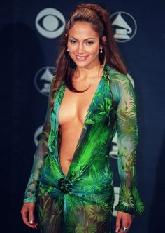 Pin for Later: 16 Things That Turn 15 in 2015 Jennifer Lopez Wore Her Infamous Grammys Dress