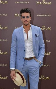 Latest Coat Pant Designs Light Blue Notched Lapel Casual Custom Wedding Suits For Men Beach Groom Jacket 2 Pieces Masculino 437 Mens Fashion Suits, Mens Suits, Mens Casual Suits, Casual Pants, Terno Slim Fit, Summer Suits, Men Summer, Summer Beach, Summer Wedding Suits