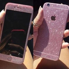 Glitter Sticker | Rose Red or Purple Glitter Decal now for all iPhones & Samsung phones! | Via @velvetcaviar | LINK: https://instagram.com/p/8d2dQULfeA/