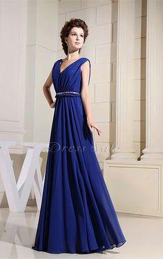 Sash A-line V-neck Floor-length Dress - Joydress.co.uk - 221 - pro - sz0328wd3212