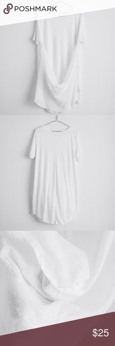 """Cowl Back Tee + Measurements • 21"""" pit to pit • 30"""" approx length ( shoulder point to hem )  + Composition • 70% modal, 30% polyester  New, without tags. Urban Outfitters Tops Tees - Short Sleeve"""