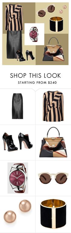"""""""Simplicity"""" by tweedleduh on Polyvore featuring Tom Ford, Cédric Charlier, RED Valentino, Fendi, Gucci, Illesteva, Bloomingdale's and Dsquared2"""