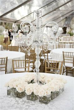 Candelabras are a lovely wedding centre piece and ideal for a shabby chic theme. Mixing contemporary and traditional elements adds a unique touch to your wedding.
