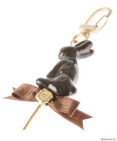 Lollipop Chocolate Rabbit Bag Charm