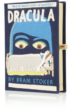 Olympia Le-Tan Dracula embroidered clutch | NET-A-PORTER