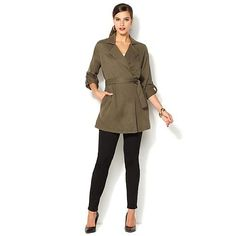 IMAN Global Chic Runway Glam Draped Jacket