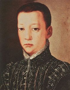 Pietro de' Medici, least balanced child of Cosimo, and the husband of Leonora di Garzia di Toledo, whom he murdered. Workshop of Bronzino.