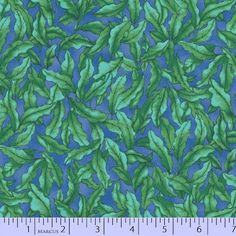 The Rainbow Fish Fabric / Rainbow Fish Seaweed on Blue Fabric / Marcus 9751-0115 / Rainbow Fish Fabric Fabric By The Yard & Fat Quarters by SewWhatQuiltShop on Etsy