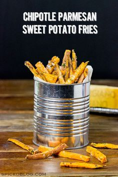 These Chipotle Parmesan Baked Sweet Potato Fries are a. These Chipotle Parmesan Baked Sweet Potato Fries are a delicious These Chipotle Parmesan Baked Sweet Potato Fries are a delicious and fun side dish for any meal! New Recipes, Real Food Recipes, Cooking Recipes, Yummy Food, Favorite Recipes, Easy Recipes, Healthy Food, Diy Spring, Chipotle