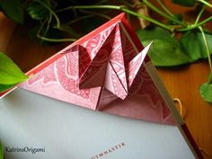 Origami ☯ peace Crane ☯ Bookmark - YouTube