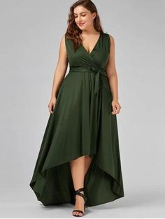 e5a29d2b67 Product Description This plus size floor length dress featuring sexy  V-collarline with fashionable