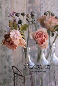 Cold porcelain floral arrangement. Handmade.