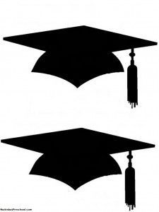 Printable Graduation Cap For Bulletin Board Nuttin' But Preschool (For students to stand on in line)