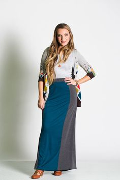 "LuLaRoe ""Olivia"" maxi skirt.  http://www.lularoe.com/maxiskirts"