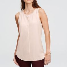 Ann Taylor Double Layer Keyhole Shell Blouse. Brand new with tags. Size Medium. Color is Rose Cloud. Ann Taylor Tops Blouses