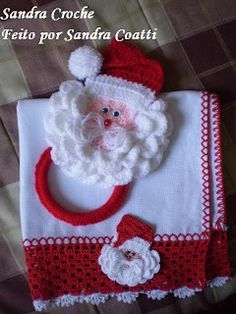 Porta toalha Noel