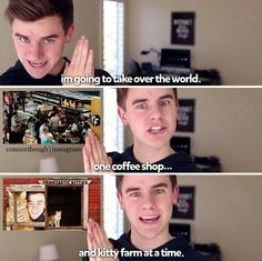 Definition of Connor Franta: cats and coffee