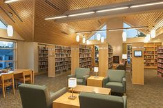 Year in Architecture 2014: Elegant Eclecticism - The new Westwood Public Library, MA, is reflective of the town's historic district. Stepped gable pavilions form a variety of reading spaces, while huge windows bring in natural light.