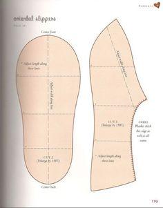 Тапочки / Простые выкройки / Своими руками - выкройки, переделка одежды, декор интерьера своими руками - от ВТОРАЯ УЛИЦА