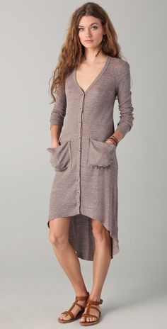 I'd wear as a dress! Free People ribbed jersey cardigan from shopbop; #garnethill, #summerstyle