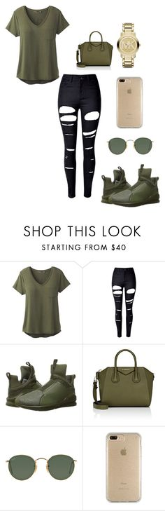"""""""Untitled #156"""" by lazandralaymon on Polyvore featuring prAna, WithChic, Puma, Givenchy, Ray-Ban, Speck and Michael Kors"""