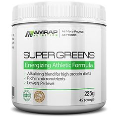 AMRAP Nutrition Organic Supergreens Powder  Blend of 11 Super Green Juices to Increase Stamina Strengthen Immune System and Maintain Healthy PH Levels  Rich in Micronutrients * Want to know more, click on the image.