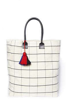 Graph-White Tote Bag