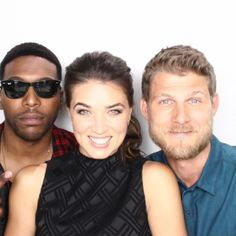 Comic-Con '15: EW's Celebrity GIF Guide, Day 1 | Jocko Sims, Marissa Neitling, and Travis Van Winkle, 'The Last Ship' | EW.com