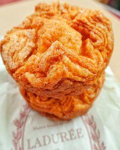 Kouign Amann from Ladurée in Paris - caramelized sugary croissants - a MUST in Paris!