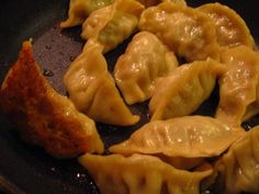 homemade potstickers.  These were very salty...I wouldn't salt the cabbage before mixing it with the meat.  Also, we used shredded chicken instead of pork -  and it worked great.