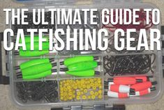 All the catfishing gear you need and nothing you don't. The ultimate guide to catfish tackle and gear to help you save money and catch more catfish Fishing For Beginners, Fishing Basics, Fly Fishing Tips, Fishing Quotes, Gone Fishing, Best Fishing, Fishing Tackle, Fishing Tricks, Fishing Rods