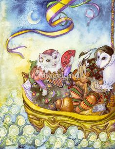 bon voyage, owl & the pussycat by Laurel Nelson