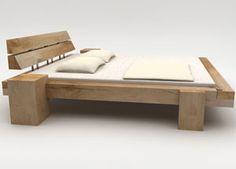Balkenbetten aus Eiche in vielen Designs und Größen