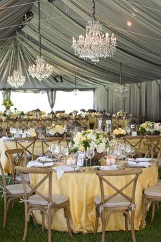Ojai Wedding from Aaron Delesie, Mindy Rice + Lisa Vorce Read more… Grey Wedding Theme, Tent Wedding, Wedding Colors, Dream Wedding, Wedding Yellow, Spring Wedding, Light Yellow Weddings, Wedding Flowers, Wedding Tables