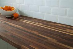 Black Walnut Builder Grade Butcher Block Countertop 8ft. - 96in. x 25in. | Floor and Decor