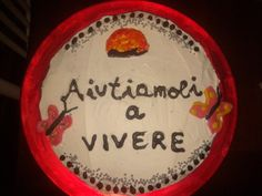 La torta fatta per l'associazione di affido di bambini bielorussi.... Anatoli <3