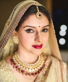 Asin looking beautiful and graceful in her bridal lehenga designed by Sabyasachi. #Bollywood #Fashion #Style #Beauty #Hot #Desi #AsinRahul #Wedding