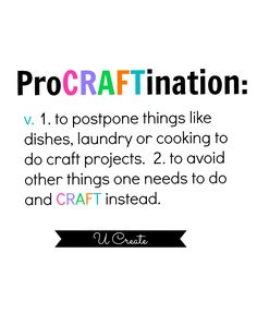 Pro-CRAFT-ination. perfect