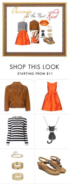 """""""Orange is the New Red"""" by xoxbbynuenue ❤ liked on Polyvore featuring Dsquared2, P.A.R.O.S.H., Gucci, Amanda Rose Collection, Miss Selfridge and orange"""
