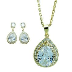 """Ever Faith Posh Drop Square Clear Austrian Crystal Necklace Earring Set Ever Faith. $25.95. Chain Size: 16.93""""-19.29"""" inside circumference length Attachment Size: 1.50"""" L by 0.87"""" W Earring Size: 1.85"""" L by 0.87"""" W. Suitable for any occasion. Square, drop and round jewelry set are very trendy this season"""