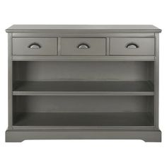 I LOVE these classic pieces in this new Grey color! - Safavieh Prudence Bookcase