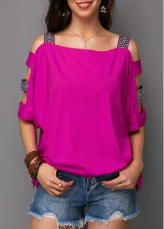 Stylish Tops For Girls, Trendy Tops, Trendy Fashion Tops, Trendy Tops For Women Trendy Tops For Women, Stylish Tops, Purple T Shirts, Casual Skirt Outfits, Ladies Dress Design, Diy Clothes, Shirt Style, Plus Size Fashion, Fashion Outfits