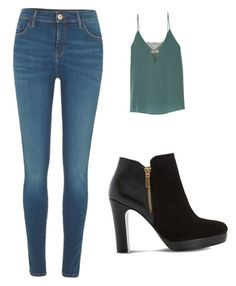 """Untitled #12"" by sumaleemarshall on Polyvore featuring River Island, Bailey 44 and Dune"